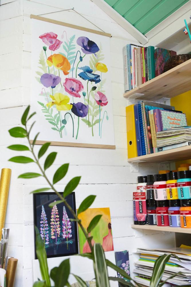 Utuliini blogi ateljee työhuone kotitoimisto 10