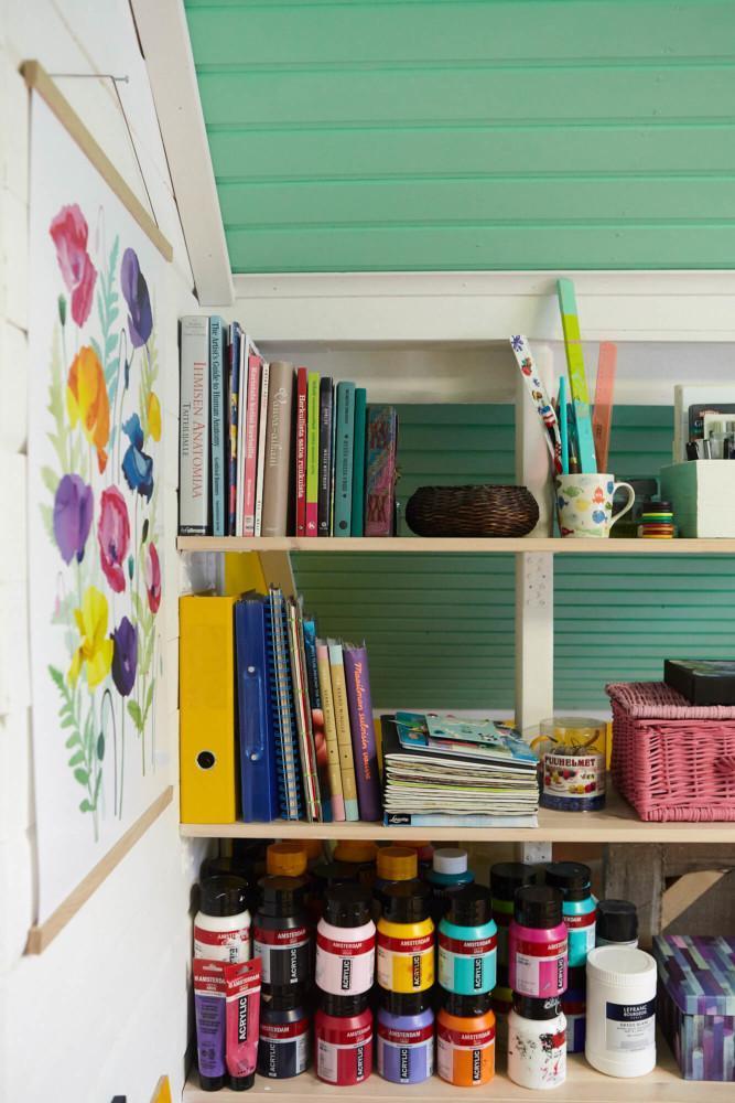 Utuliini blogi ateljee työhuone kotitoimisto 13